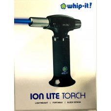 WHIP-IT! Ion Lite Torch All Black Rubberized Ion Lite Torch