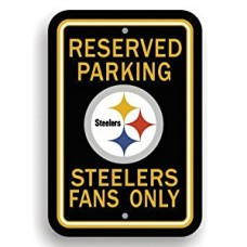 NFL RESERVED PARKING METAL SIGN