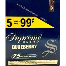 SUPREME CIG. BLUEBERRY/ 15-5pk-99c (15)