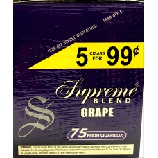 SUPREME CIG. GRAPE/ 15-5pk-99c (15)