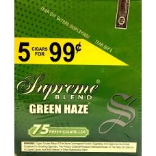 SUPREME CIG. GREEN HAZE/ 15-5pk-99c (15)