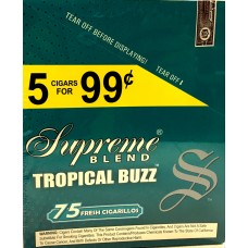 SUPREME CIG. TROPICAL BUZZ/ 15-5pk-99c (15)
