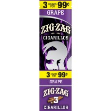 ZIG-ZAG Cigarillos Grape/15-3 for 99c (24)