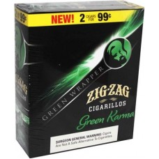 ZIG-ZAG Cigarillos Green Karma/15-2 for 99c (24)