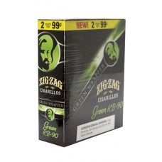ZIG-ZAG Cigarillos Green KB-90/15-2 for 99c (24)