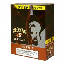 ZIG-ZAG Cigarillos Straight Up/15-3 for 99c (24)