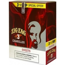 ZIG-ZAG Cigarillos Sweet/15-3 for 99c (24)
